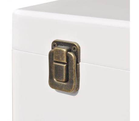 vidaXL Szafka w kształcie walizki, 40x30x57 cm, biała[5/6]