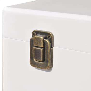 vidaXL Mesita auxiliar 40x30x57 cm blanca[5/6]