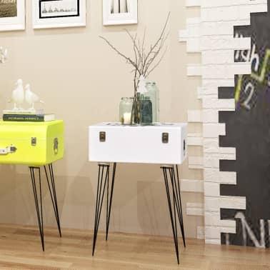 vidaXL Szafka w kształcie walizki, 40x30x57 cm, biała[1/6]