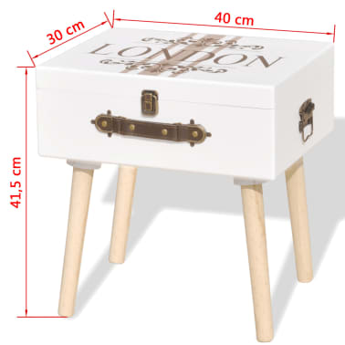 vidaXL Side Cabinet 40x30x41.5 cm White[6/6]