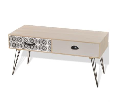 vidaXL TV Side Table 100x40x35 cm Brown