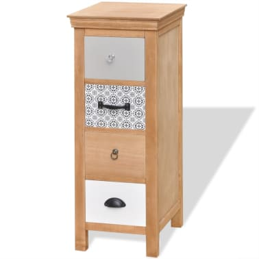"vidaXL Drawer Cabinet 13.8""x13.8""x35.4"" Solid Wood[2/6]"