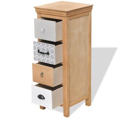 vidaXL Dulap cu sertare, 35 x 35 x 90 cm, lemn masiv[4/6]