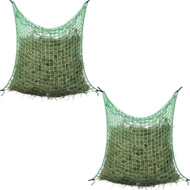 vidaXL Redes para feno quadradas PP 2 pcs 0,9x1,5 m[1/3]