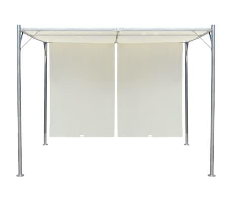 vidaXL Pergola with Adjustable Roof Cream White Steel 9.8'x9.8'[2/6]