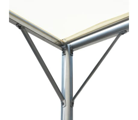 vidaXL Pergola with Adjustable Roof Cream White Steel 9.8'x9.8'[4/6]