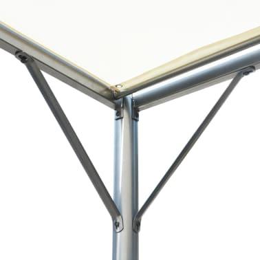 vidaXL Pergola with Adjustable Roof Cream White Steel 9.8