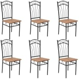 vidaXL Dining Chairs 6 pcs Brown