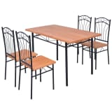 vidaXL Five Piece Dining Set Brown