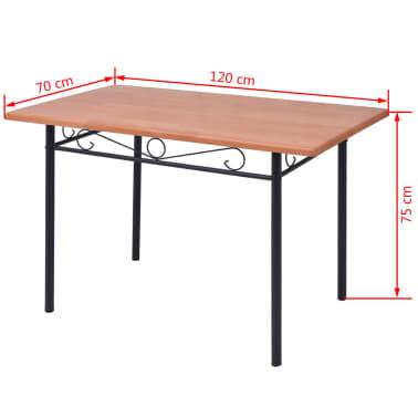 vidaXL Conjunto de comedor 5 piezas marrón[8/8]