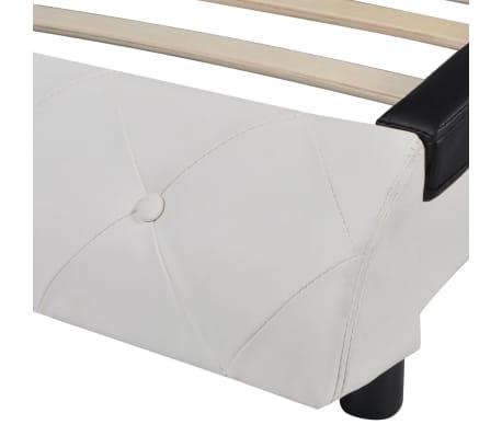 vidaxl bettrahmen kunstleder 180x200 cm schwarz und wei. Black Bedroom Furniture Sets. Home Design Ideas