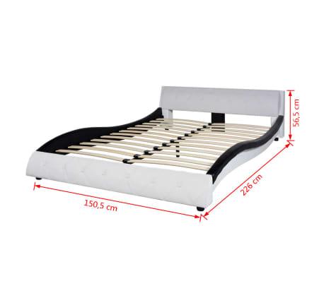 vidaxl bettrahmen kunstleder 140x200 cm schwarz und wei g nstig kaufen. Black Bedroom Furniture Sets. Home Design Ideas