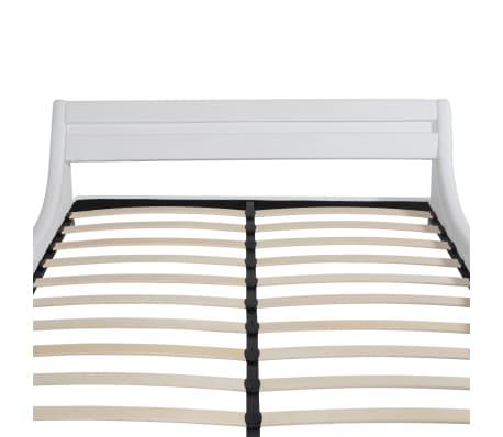 vidaxl bettrahmen mit led 180x200 cm kunstleder wei. Black Bedroom Furniture Sets. Home Design Ideas