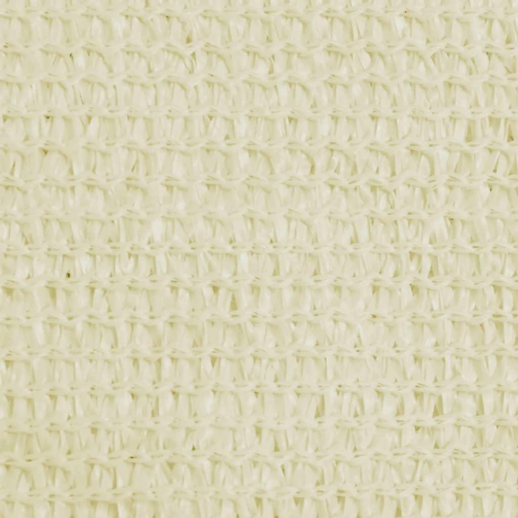 vidaXL Zonnescherm HDPE driehoekig 3,6x3,6x3,6 m crème