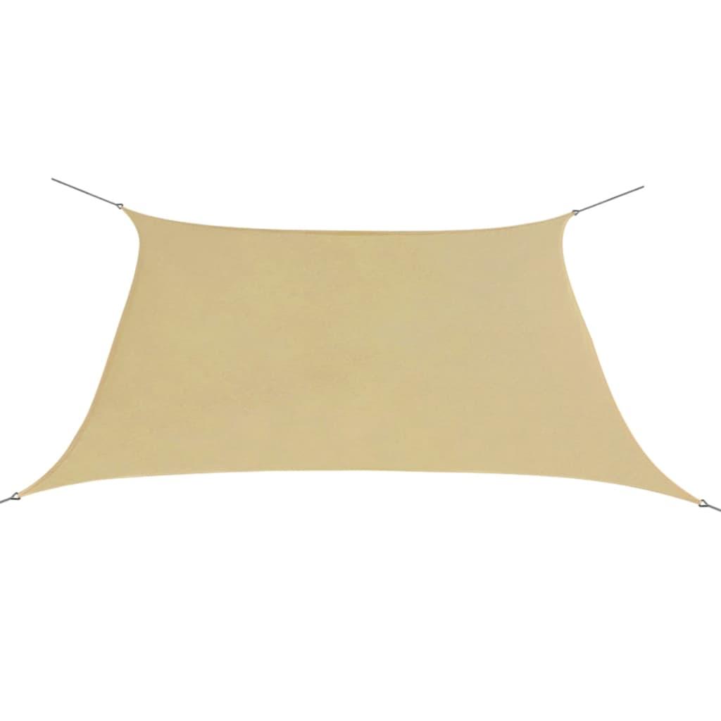 vidaXL Zonnescherm Oxfordtextiel vierkant 3,6x3,6 m beige