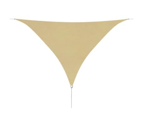 vidaXL oxford-kangast päikesepuri, kolmnurkne 5 x 5 x 5 m, beež