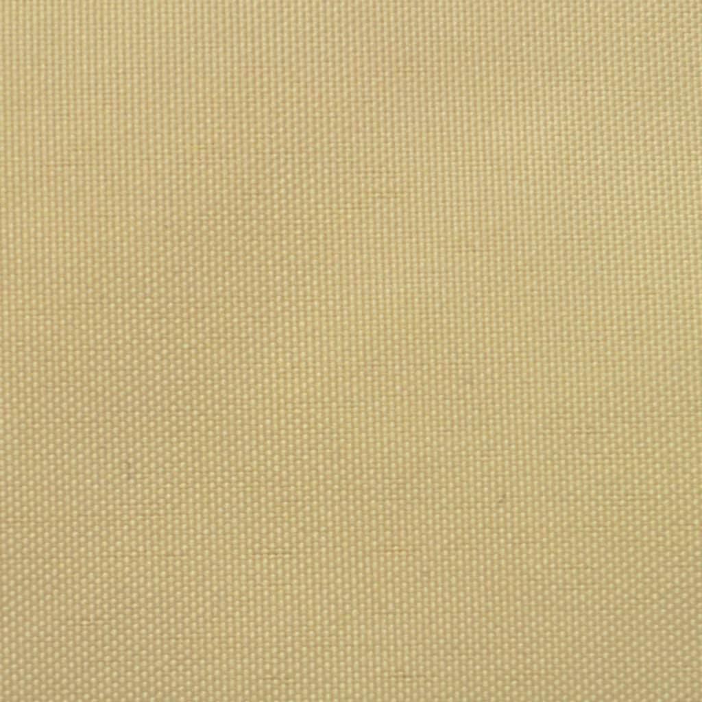 vidaXL Zonnescherm driehoekig 5x5x5 m oxford stof beige