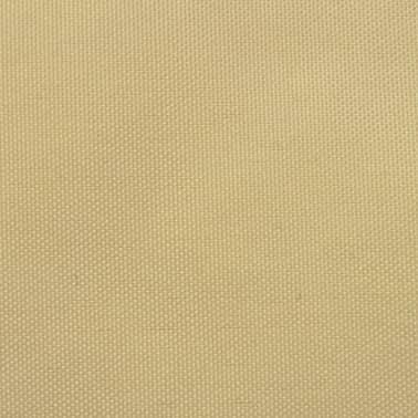 vidaXL Zonnescherm driehoekig 5x5x5 m oxford stof beige[2/4]