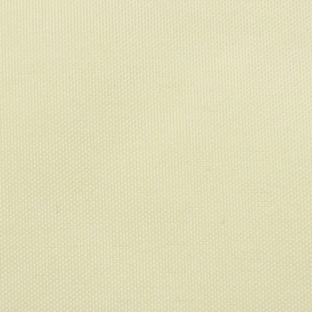 vidaXL Zonnescherm driehoekig 5x5x5 m oxford stof crèmekleurig