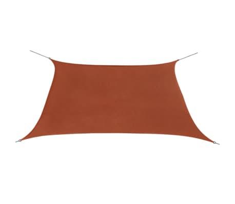vidaXL négyzet alakú, terrakotta oxford szövet napvitorla 3,6 x 3,6 m