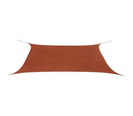 vidaXL Сенник платно, Оксфорд текстил, правоъгълно, 4x6 м, керемидено