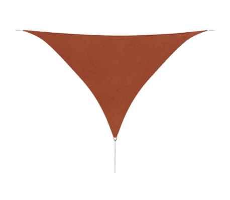 vidaXL Sunshade Sail Oxford Fabric Triangular 3.6x3.6x3.6 m Terracotta