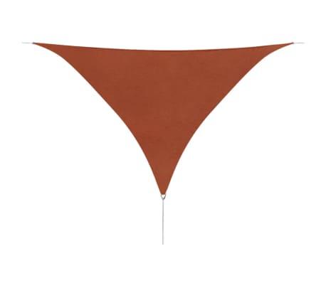 vidaXL Tieniaca plachta, oxford, trojuholníková 5x5x5m, tehlová