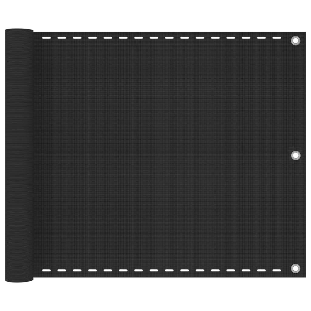 vidaXL Διαχωριστικό Βεράντας Ανθρακί 75 x 400 εκ. από HDPE