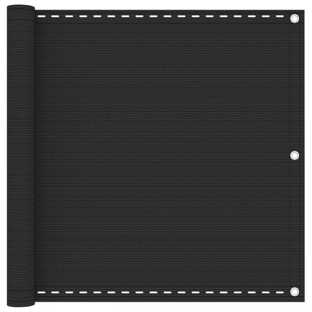 vidaXL Διαχωριστικό Βεράντας Ανθρακί 90 x 400 εκ. από HDPE