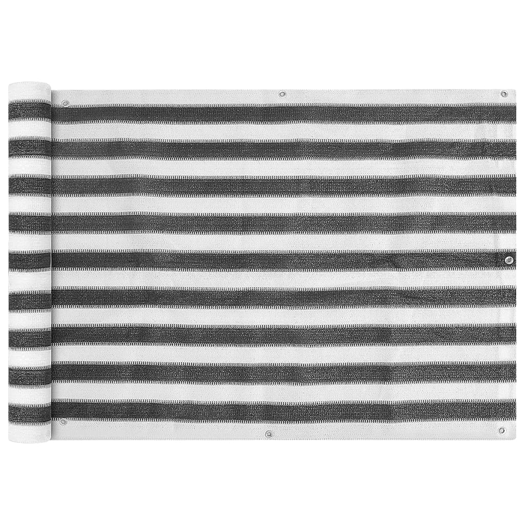 vidaXL Διαχωριστικό Βεράντας Ανθρακί και Λευκό 75 x 400 εκ. από HDPE
