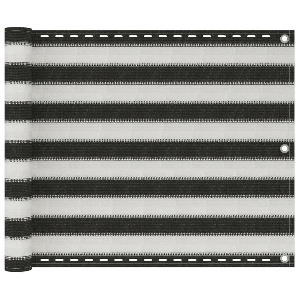 vidaXL Διαχωριστικό Βεράντας Ανθρακί και Λευκό 75 x 600 εκ. από HDPE