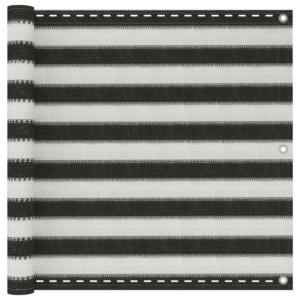 vidaXL Διαχωριστικό Βεράντας Ανθρακί και Λευκό 90 x 400 εκ. από HDPE
