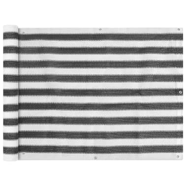 vidaXL balkonafskærmning HDPE 90 x 400 cm antracitgrå / hvid[1/4]