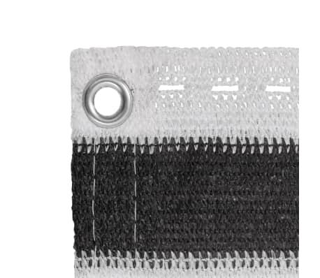 vidaXL balkonafskærmning HDPE 90 x 400 cm antracitgrå / hvid[3/4]