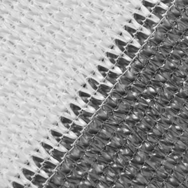 vidaXL balkonafskærmning HDPE 90 x 400 cm antracitgrå / hvid[2/4]