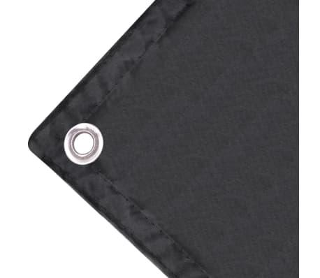 vidaXL Balkonsko Platno Oksford Tekstil 75x400 cm Antracitno[3/4]
