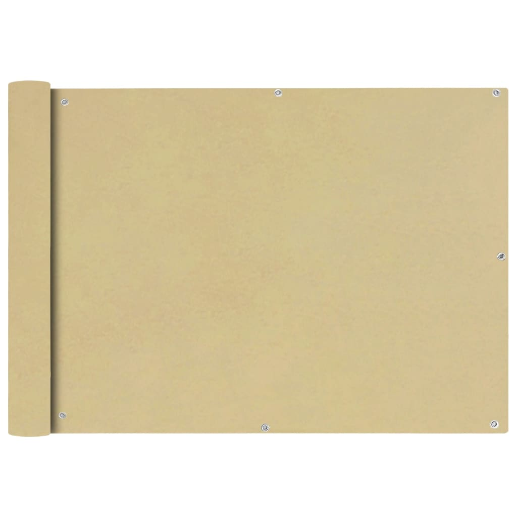 vidaXL Διαχωριστικό Βεράντας Μπεζ 75 x 400 εκ. από Ύφασμα Oxford