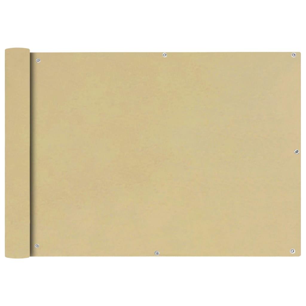 vidaXL Διαχωριστικό Βεράντας Μπεζ 75 x 600 εκ. από Ύφασμα Oxford