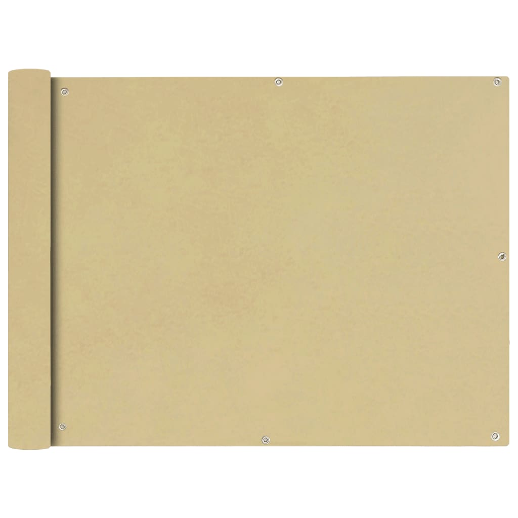 vidaXL Διαχωριστικό Βεράντας Μπεζ 90 x 400 εκ. από Ύφασμα Oxford