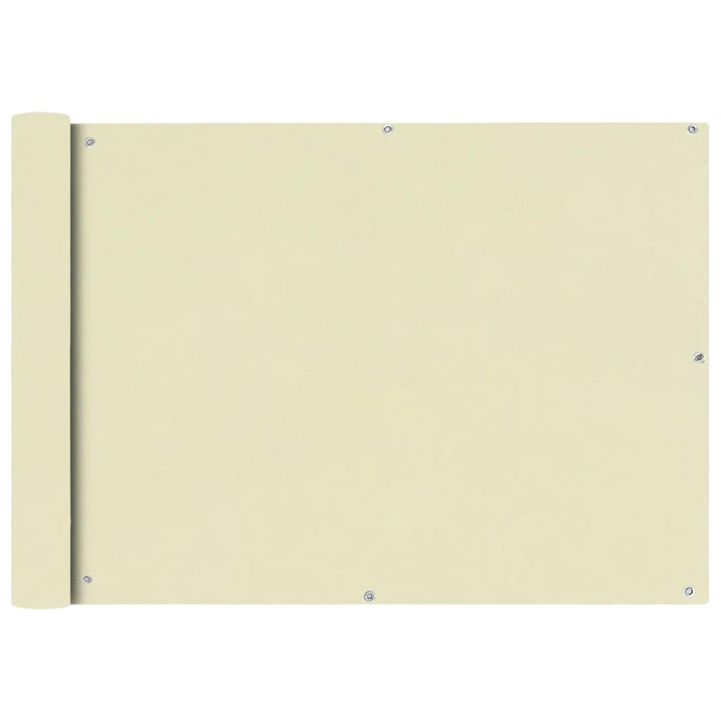 vidaXL Διαχωριστικό Βεράντας Κρεμ 75 x 400 εκ. από Ύφασμα Oxford