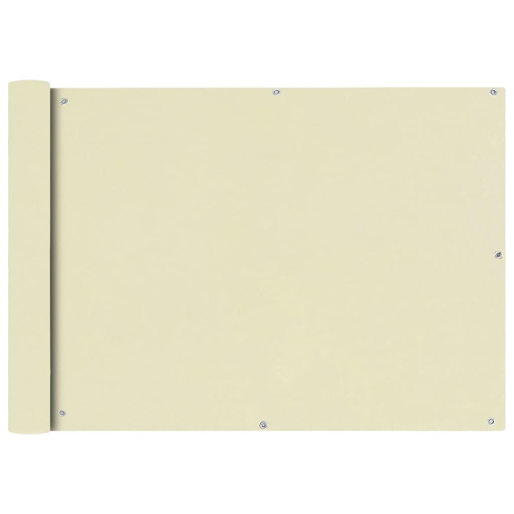 vidaXL Διαχωριστικό Βεράντας Κρεμ 75 x 600 εκ. από Ύφασμα Oxford