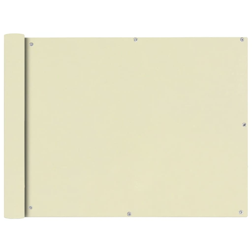 vidaXL Διαχωριστικό Βεράντας Κρεμ 90 x 400 εκ. από Ύφασμα Oxford