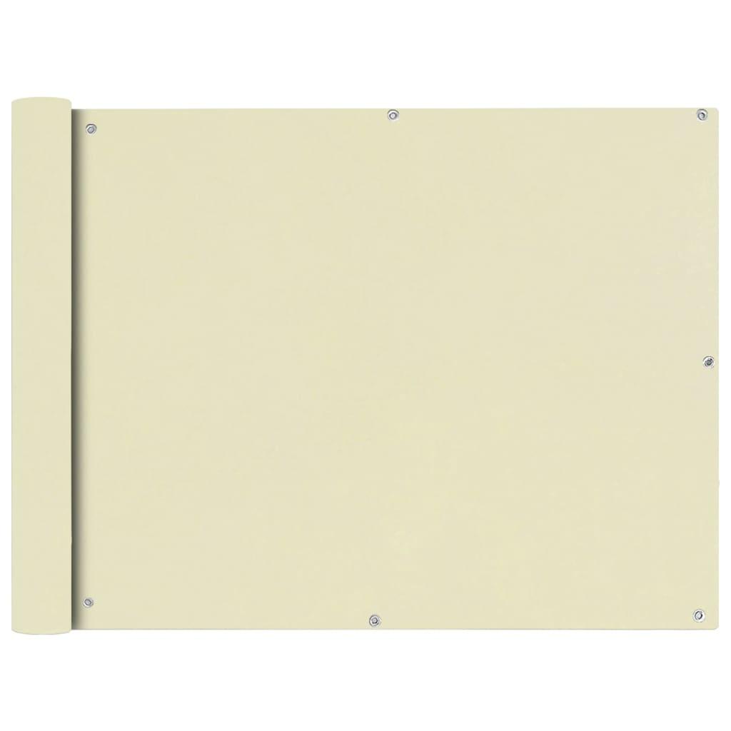 vidaXL Διαχωριστικό Βεράντας Κρεμ 90 x 600 εκ. από Ύφασμα Oxford