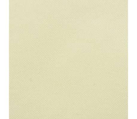 vidaXL balkonafskærmning oxford-stof 90x600 cm cremefarvet[2/4]