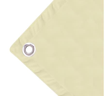 vidaXL balkonafskærmning oxford-stof 90x600 cm cremefarvet[3/4]