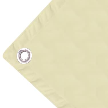 vidaXL Balkonsichtschutz Oxfordgewebe 90x600 cm Creme[3/4]