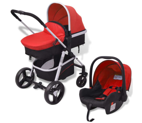 Details About Vidaxl 3 In 1 Pushchair Aluminium Stroller Buggy Baby Child Kid Multi Colours