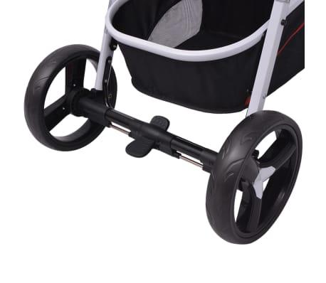 vidaXL 3-in-1 Kinderwagen Aluminium rot und schwarz[11/14]