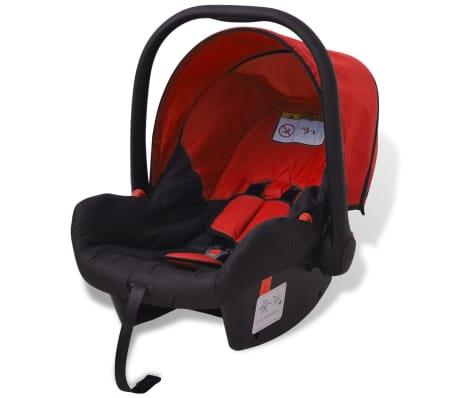 vidaXL 3-in-1 Kinderwagen Aluminium rot und schwarz[6/14]