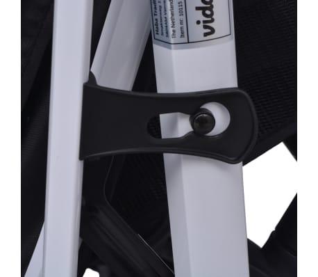 vidaXL 3-in-1 Kinderwagen Aluminium rot und schwarz[10/14]